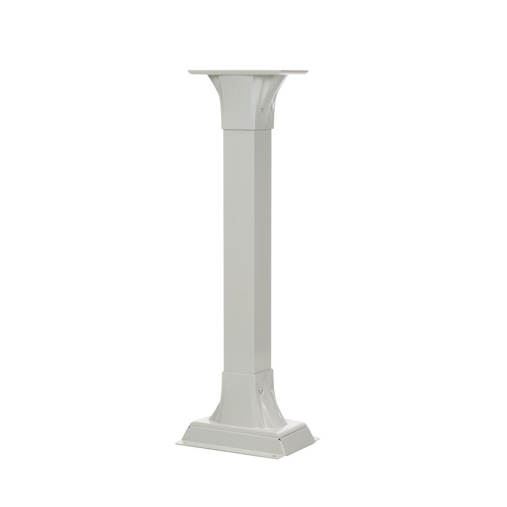 Gibraltar Mailboxes Callaway Aluminum Adjustable Mailbox Post in White