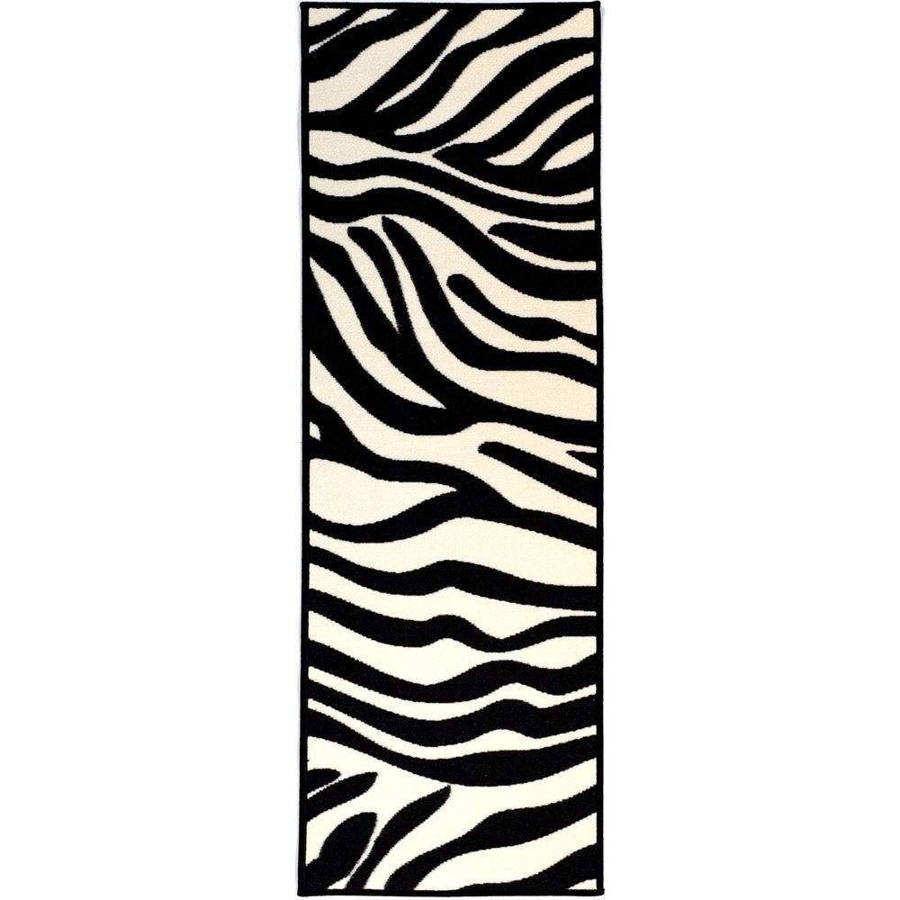 Ottomanson Glamour Collection Animal Print Design Zebra 2
