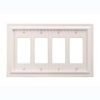 Cottage 4 Decora Wall Plate - White