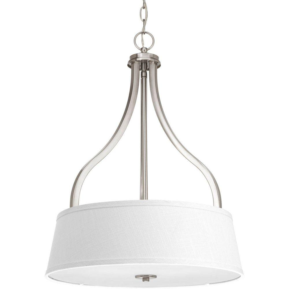 Arden Collection 3-Light Brushed Nickel Chandelier