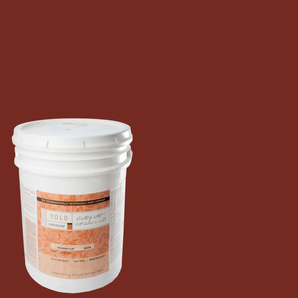 YOLO Colorhouse 5-gal. Clay .05 Flat Interior Paint-DISCONTINUED