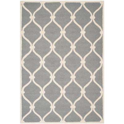 Cambridge Dark Gray/Ivory 6 ft. x 9 ft. Area Rug
