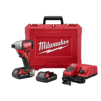 M18 18-Volt 1/4 in. Cordless Hex Brushless Impact Driver Kit
