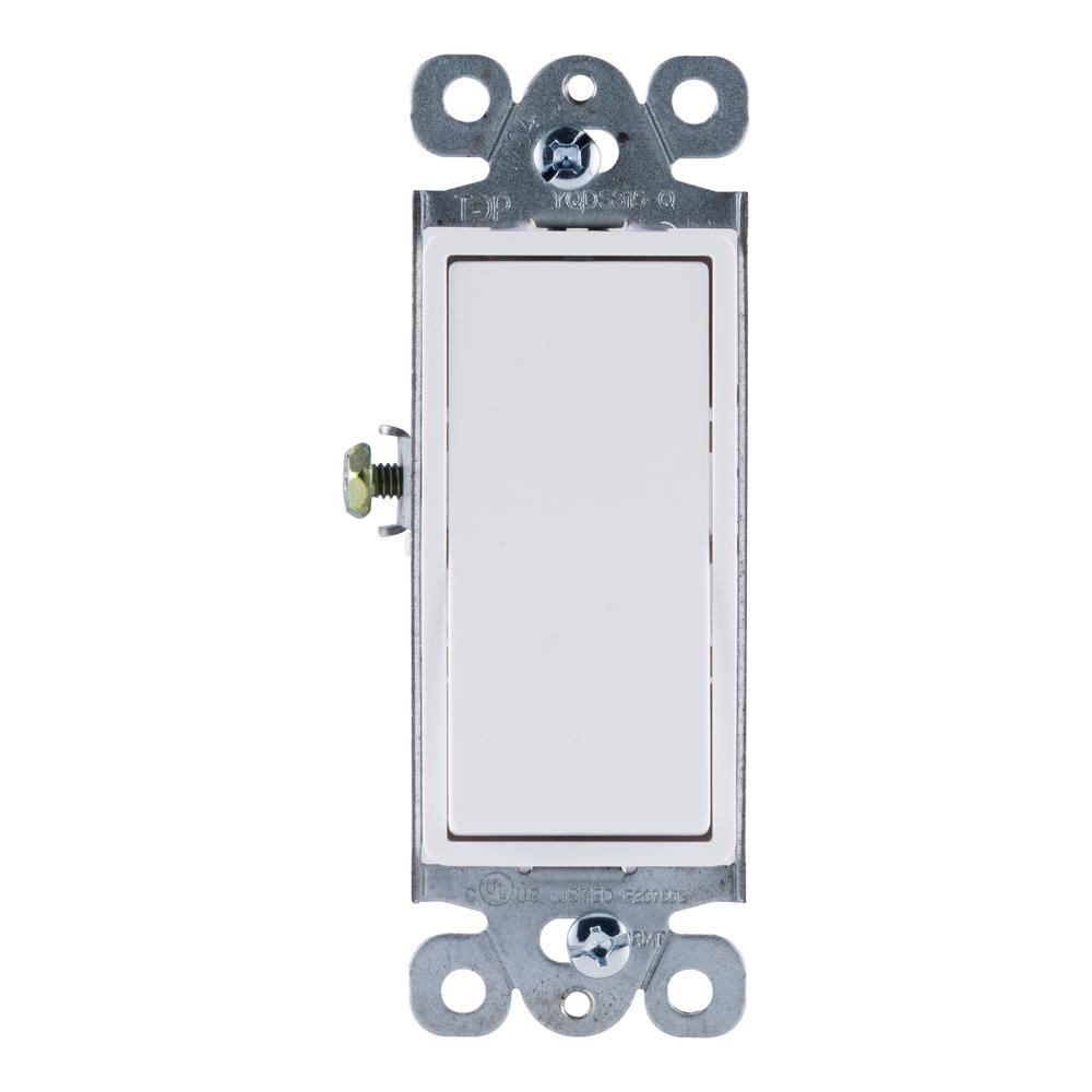 15 Amp Rocker Switch, White