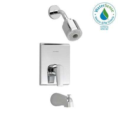 Studio 1-Handle Tub and Shower Faucet Trim Kit in Polished Chrome (Valve Not Included)