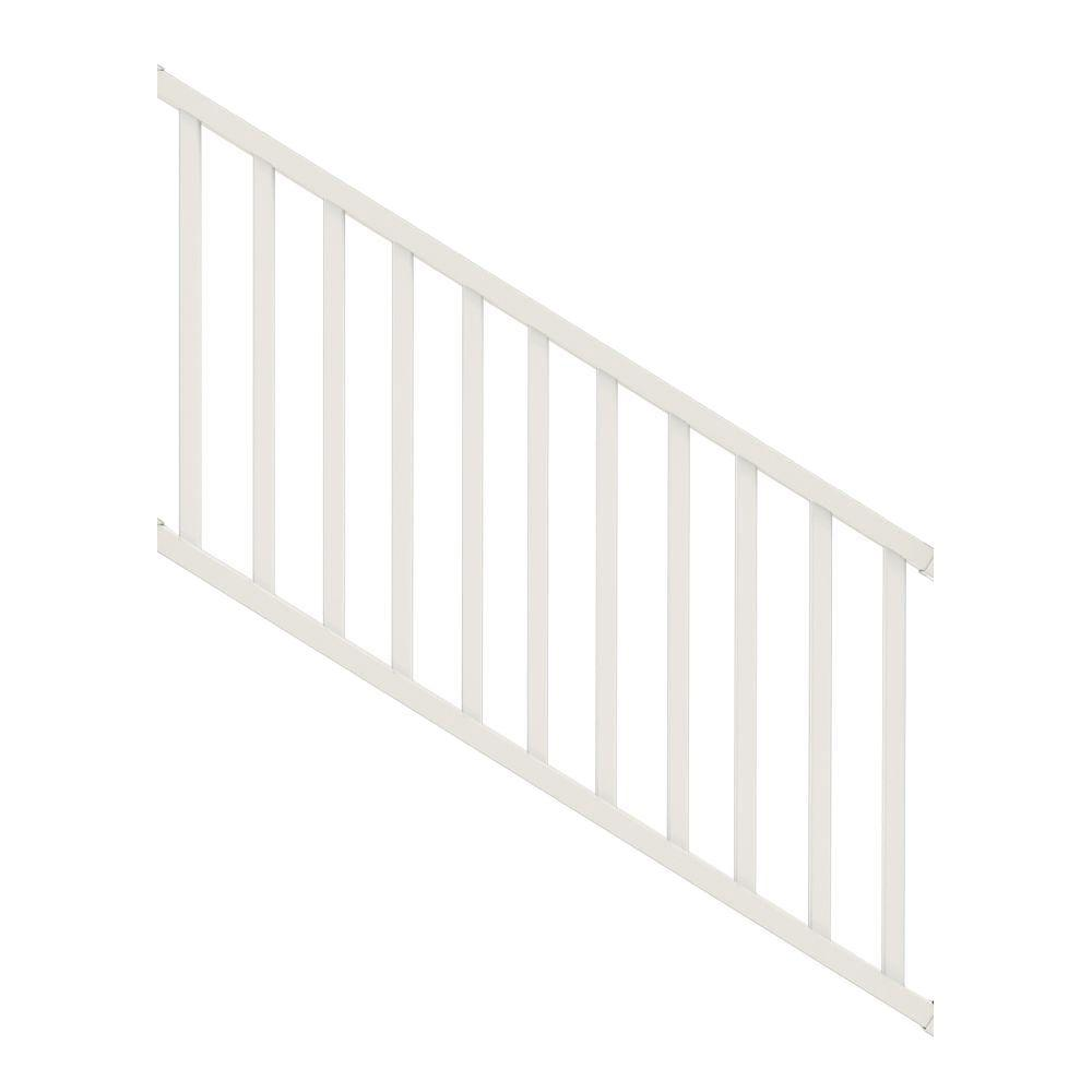 Veranda Select 3 Ft White Vinyl Stair Rail Kit With Square Balusters 73024862 The Home Depot