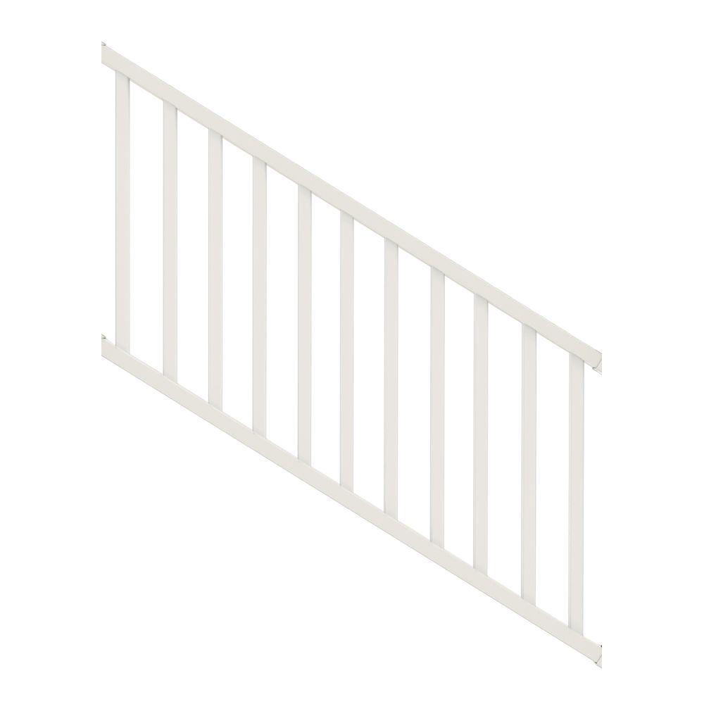 Veranda Select 3 Ft White Vinyl Stair Rail Kit With