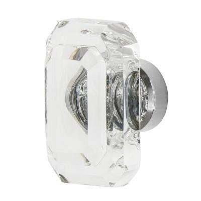 Baguette Cut Crystal 1-3/4 in. Cabinet Knob in Bright Chrome