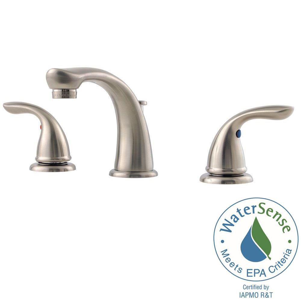 Pfister Pfirst Series 8 in. Widespread 2-Handle Bathroom Faucet in ...