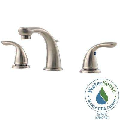 Pfirst Series 8 in. Widespread 2-Handle Bathroom Faucet in Brushed Nickel