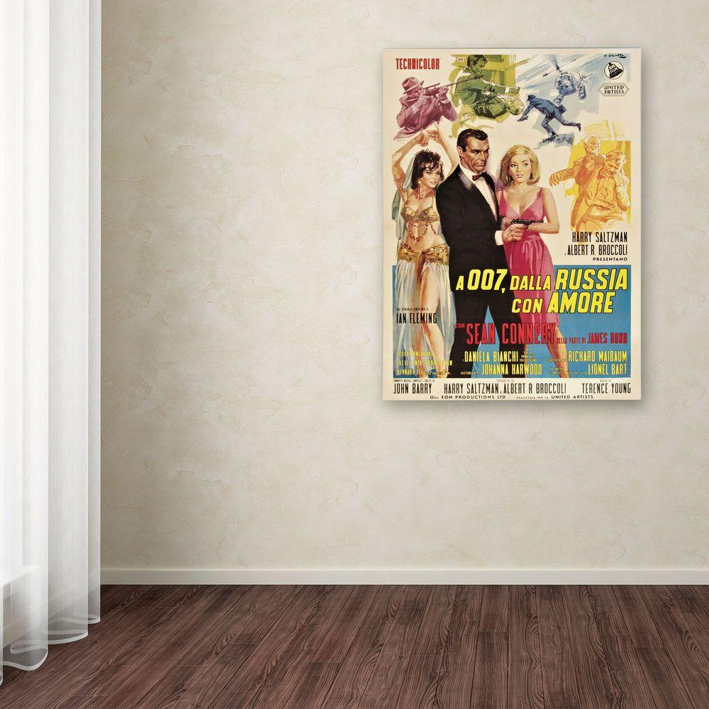 Trademark Fine Art 24 in. x 18 in. From Russia with Love Canvas Art