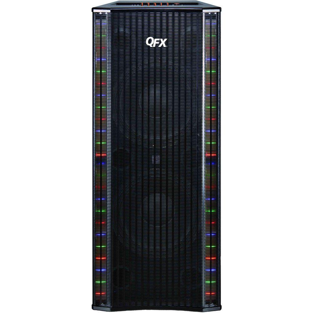 QFX 4000-Watt Bluetooth Cabinet Speaker with Built-In Amplifier