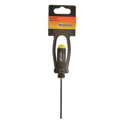 3/16 in. x 3.7 in. Ball End Hex Drive Screwdriver with ProGuard Finish, Tagged and Barcoded