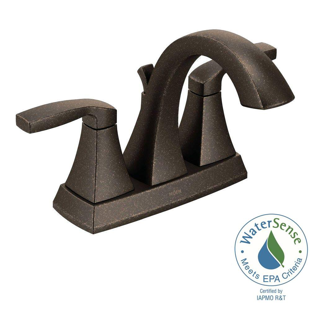 MOEN Voss 4 in. Centerset 2-Handle Bathroom Faucet in Oil Rubbed Bronze