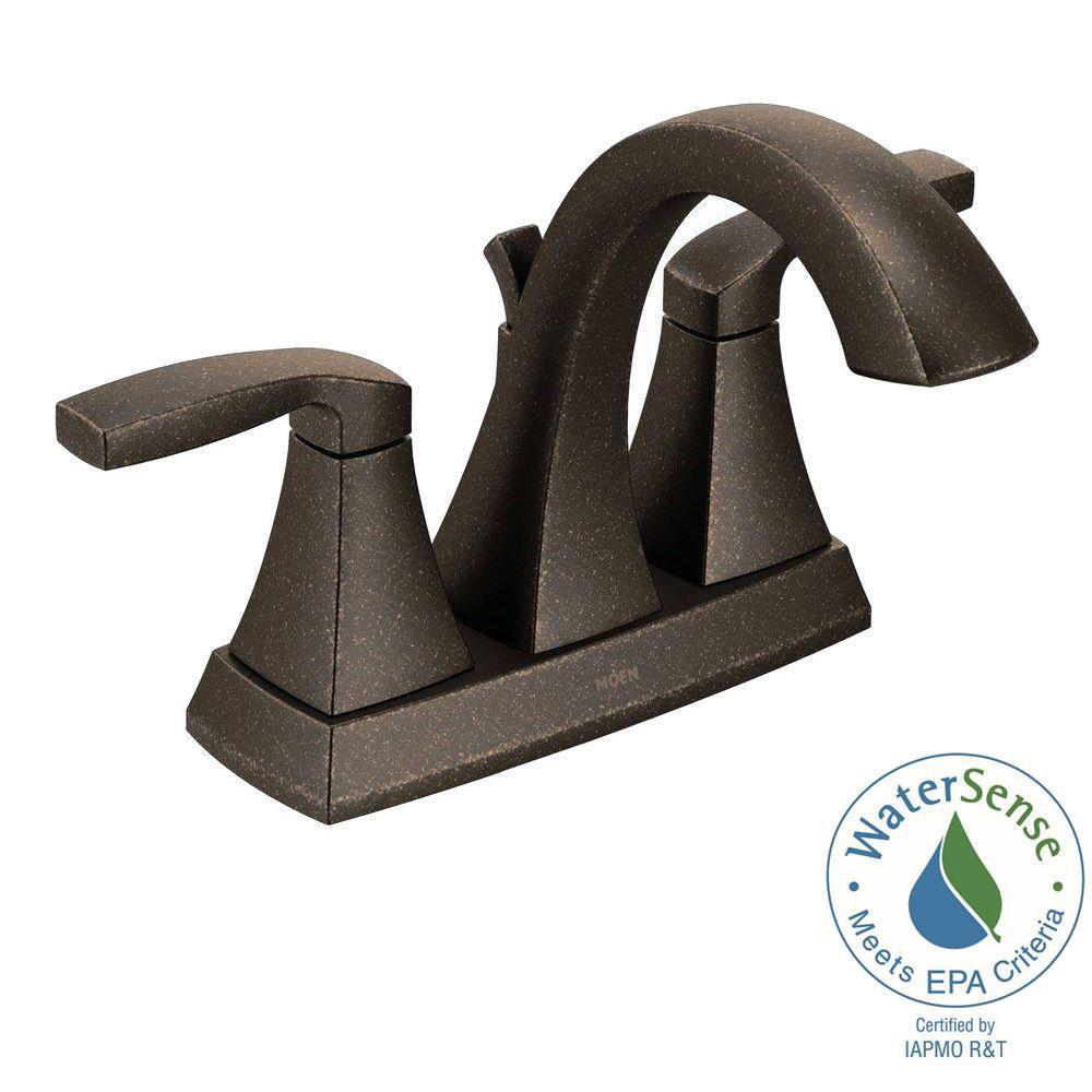 Voss 4 in. Centerset 2-Handle Bathroom Faucet in Oil Rubbed Bronze