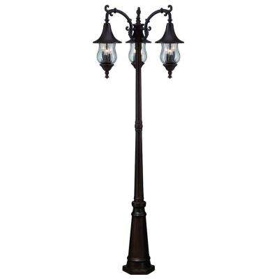 Del Rio 9-Light Architectural Bronze Outdoor Surface-Mount Post Combination