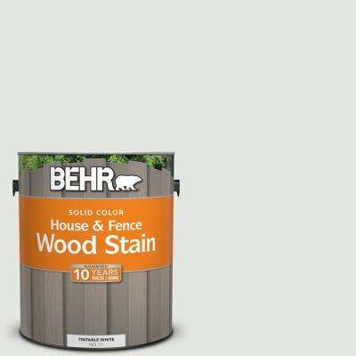 1 gal. #BXC-89 Maritime White Solid Color House and Fence Exterior Wood Stain