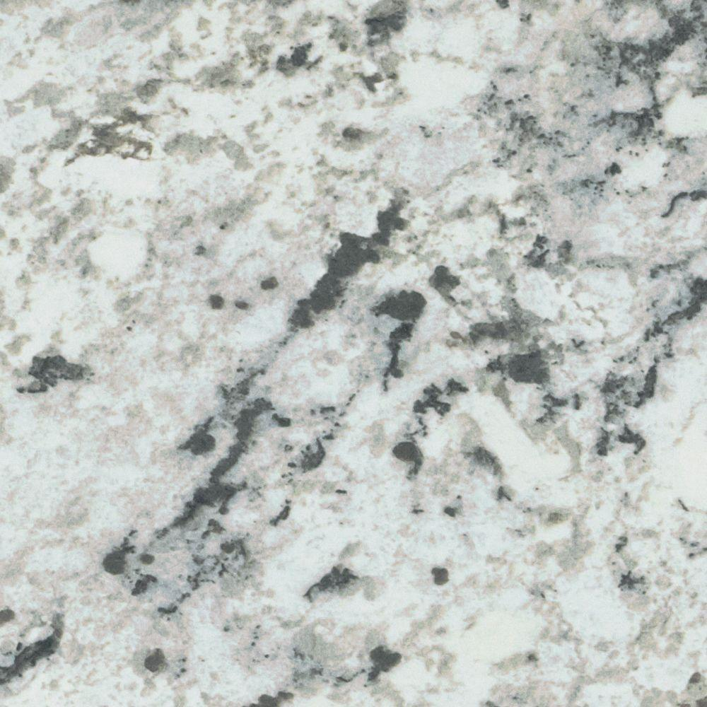 4 ft. x 8 ft. Laminate Sheet in White Ice Granite