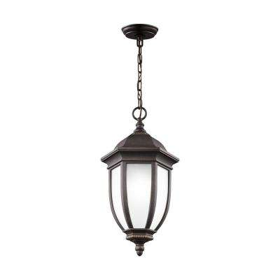 Galvyn Antique Bronze 1-Light Hanging Pendant with LED Bulb