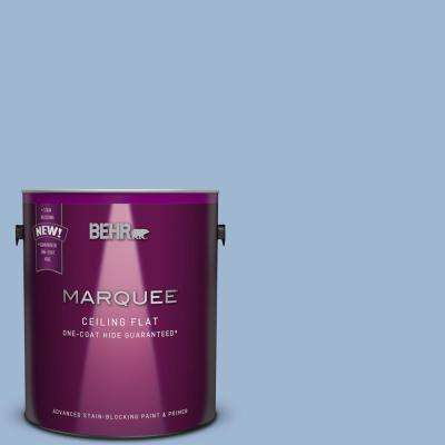 1 gal. #PPU14-10 Tinted to Blue Suede Flat Interior Ceiling Paint and Primer in One