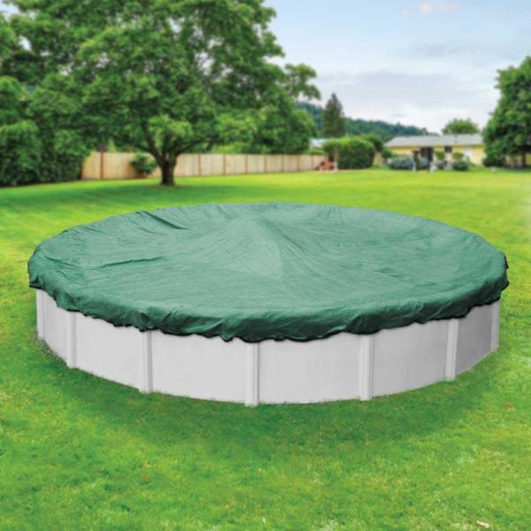 Extreme-Mesh 21 ft. Round Green Winter Pool Cover