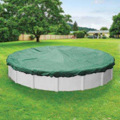 Extreme-Mesh XL 21 ft. Pool Size Round Teal and Black Mesh Winter Above Ground Pool Cover