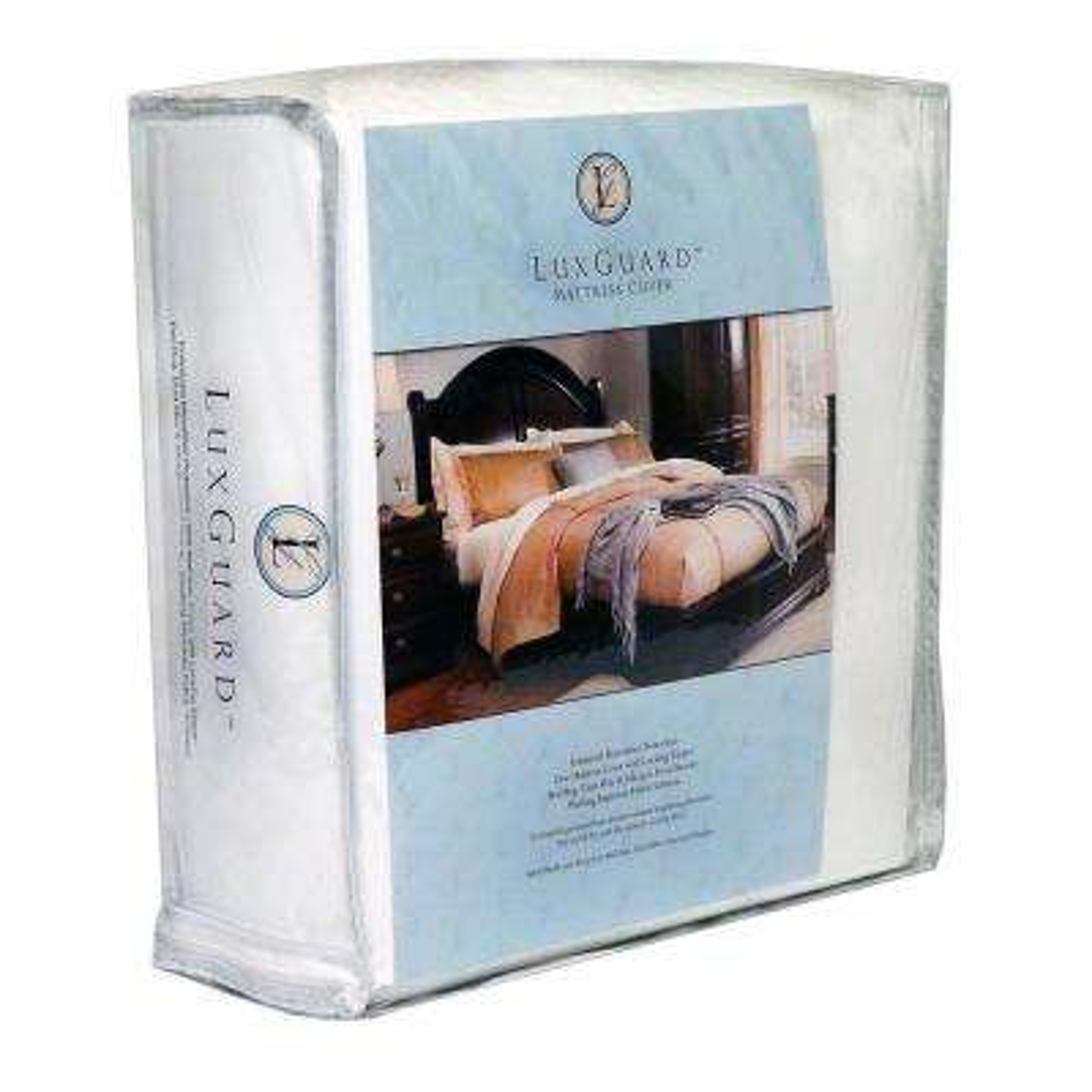 9in. LuxGuard Bed Bug, Microfiber Dust Mite and Allergen Proof Allergy Queen Mattress Protector and Zip Cover Encasement