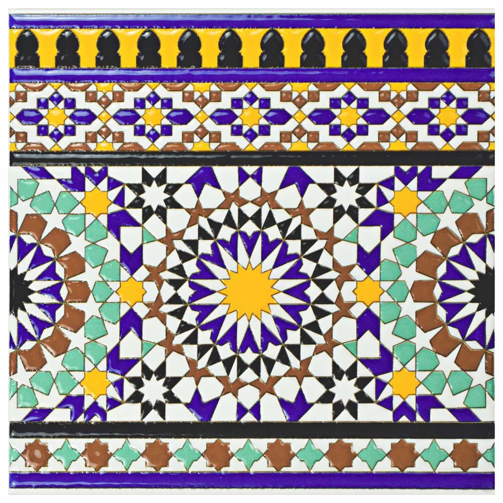 Merola Tile Sevillano Andalusia Cenefa 7 78 In X 7 78 In Ceramic
