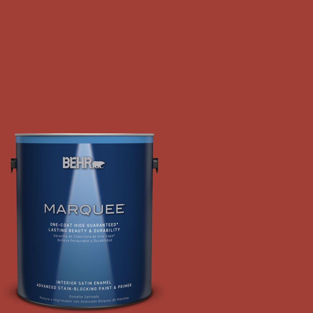 1 gal. #HDC-SM16-12 Tomato Slices Satin Enamel Interior Paint