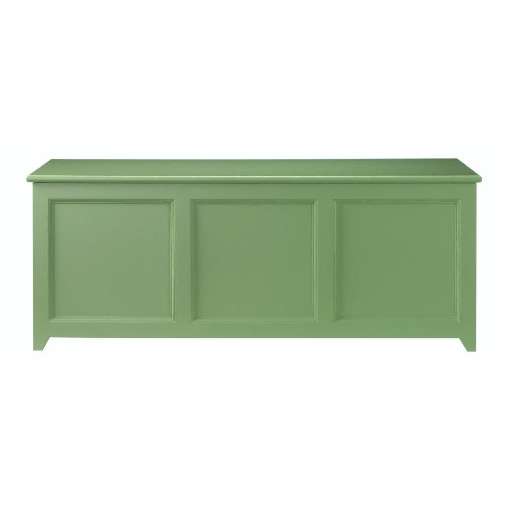 Martha Stewart Living Craft Space 50 in. W 3-Compartment Wood Chest Cabinet in Rhododendron Leaf