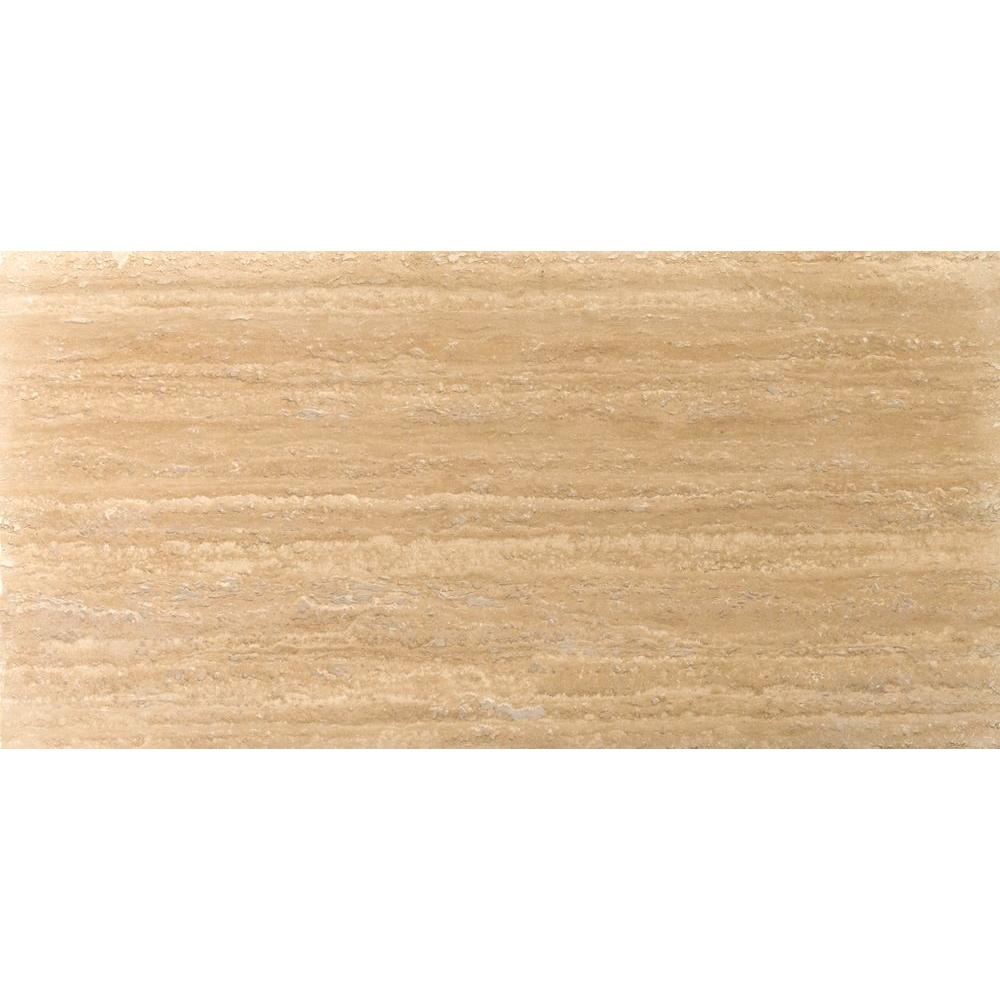 Emser Trav Dore Select Plank Filled and Honed 6 in. x 24 in. Travertine Floor or Wall Tile