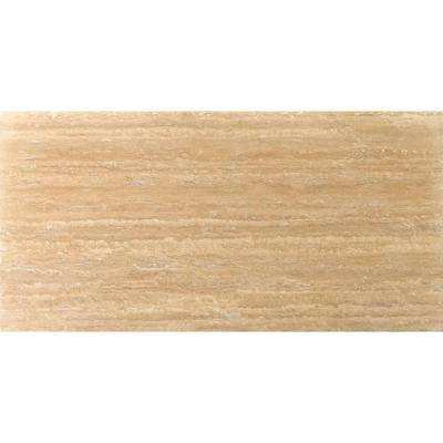 Trav Dore Select Plank Filled and Honed 12 in. x 24 in. Travertine Floor or Wall Tile