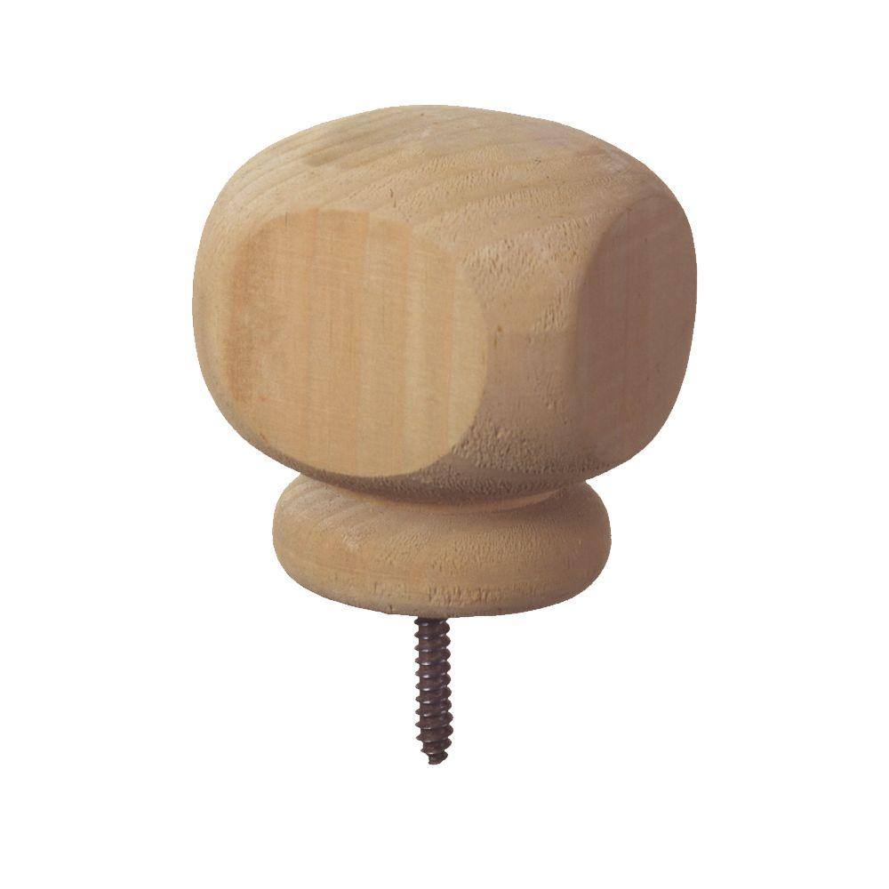 4 In X Contemporary Wood Post Cap Finial 6 Pack 189295 The