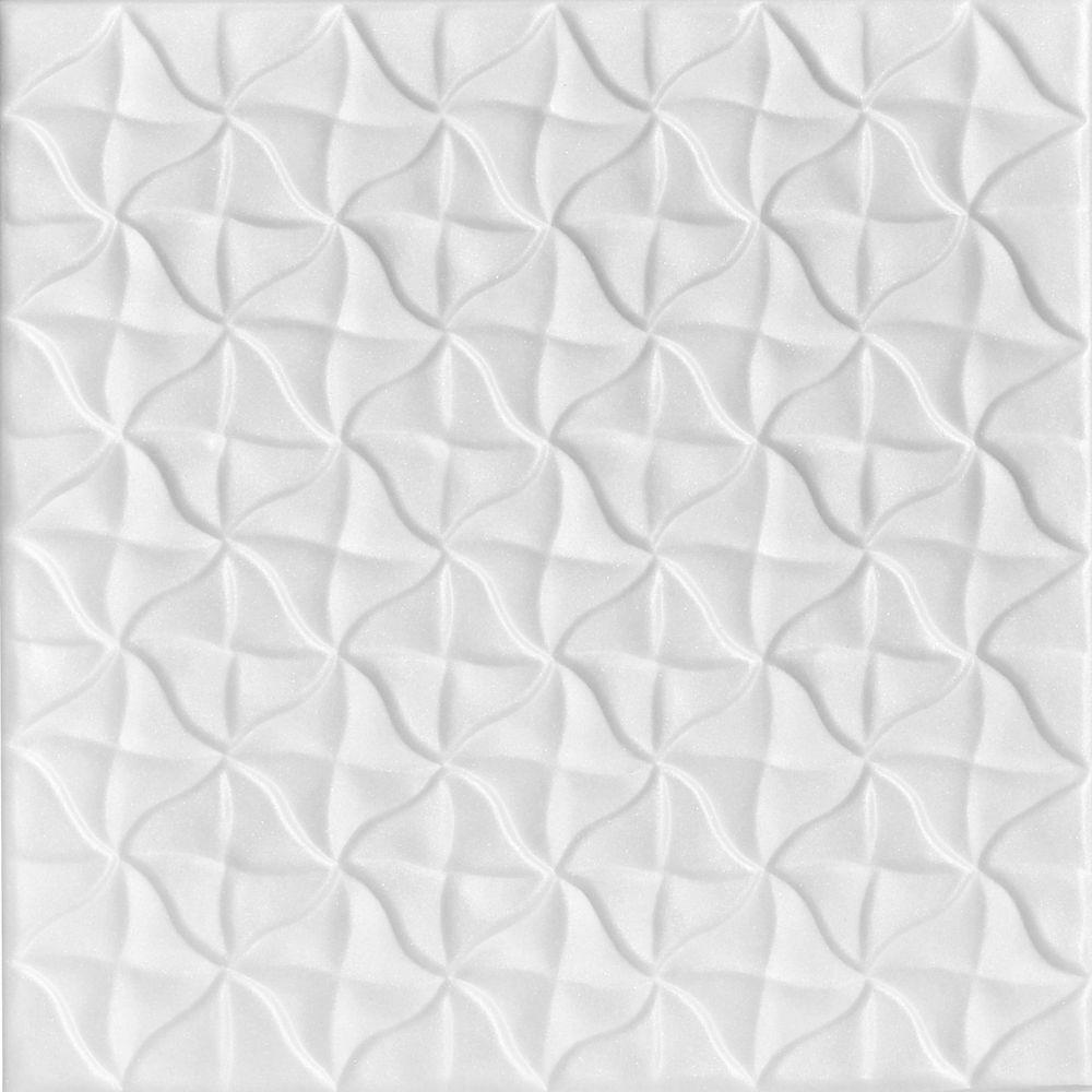 A la maison ceilings grannys pinwheel 16 ft x 16 ft foam glue a la maison ceilings grannys pinwheel 16 ft x 16 ft foam glue up ceiling tile in plain white 216 sq ft case r55pw 8 the home depot dailygadgetfo Image collections
