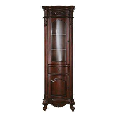 Provence 24 in. W x 72 in. H x 19-1/5 in. D Bathroom Linen Storage Tower Cabinet in Antique Cherry