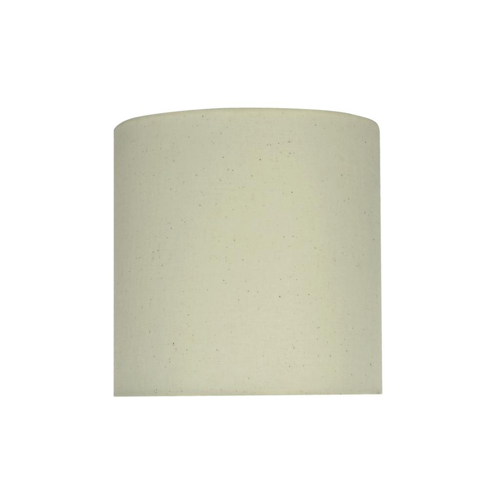 Aspen Creative Corporation 8 In X Off White Drum Cylinder Lamp Shade