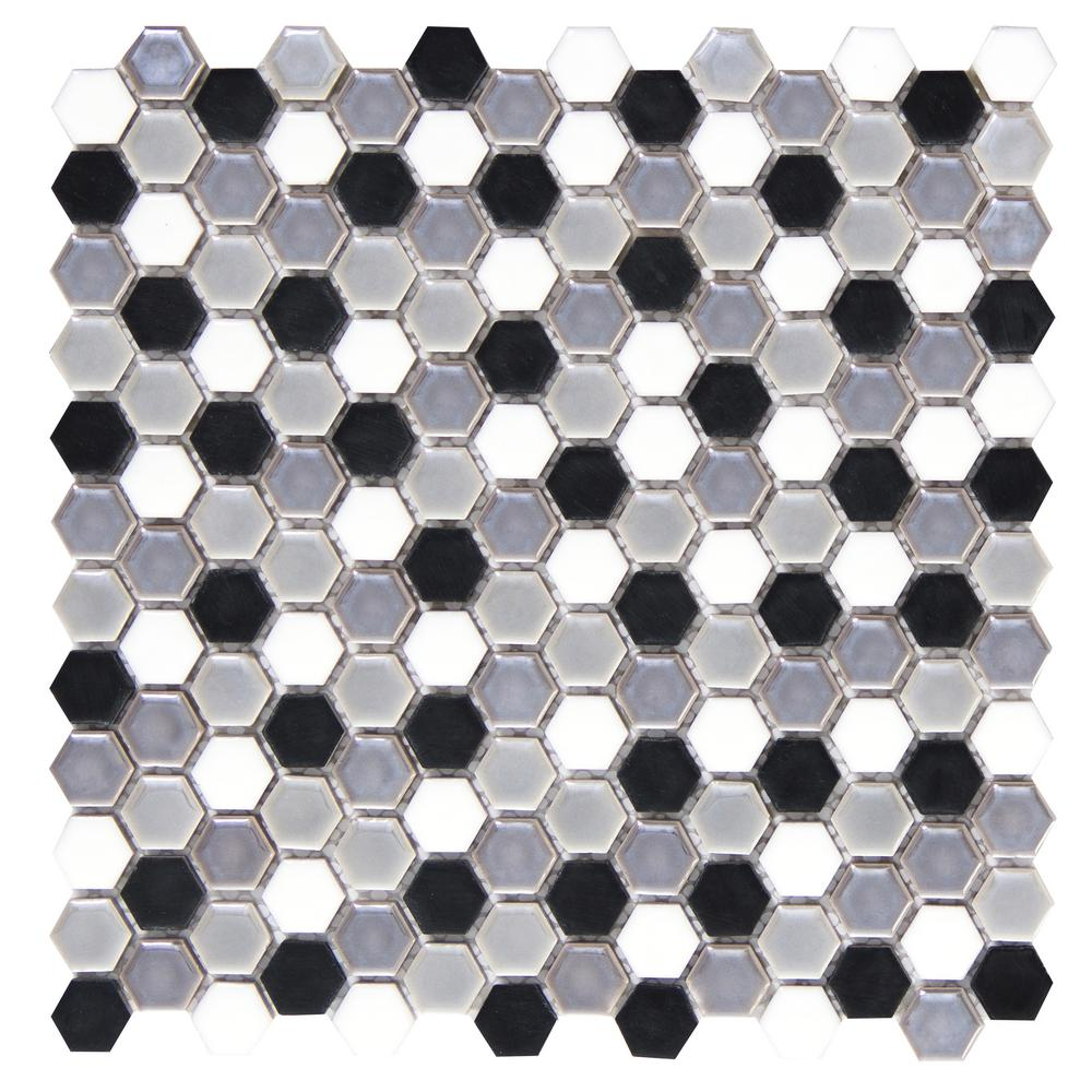 Confetti Gelido 11.81 in. x 11.81 in. x 8mm Porcelain Mesh-Mounted