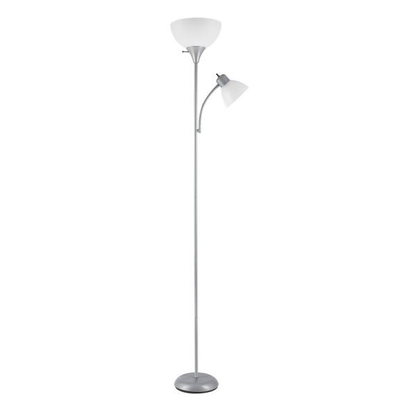 Silver Torchiere Floor Lamp