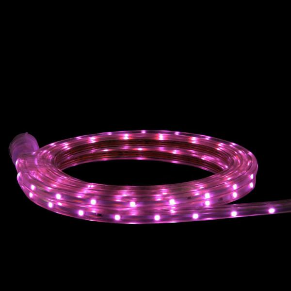 10 ft. 60-Light Pink LED Outdoor Christmas Linear Tape Lighting