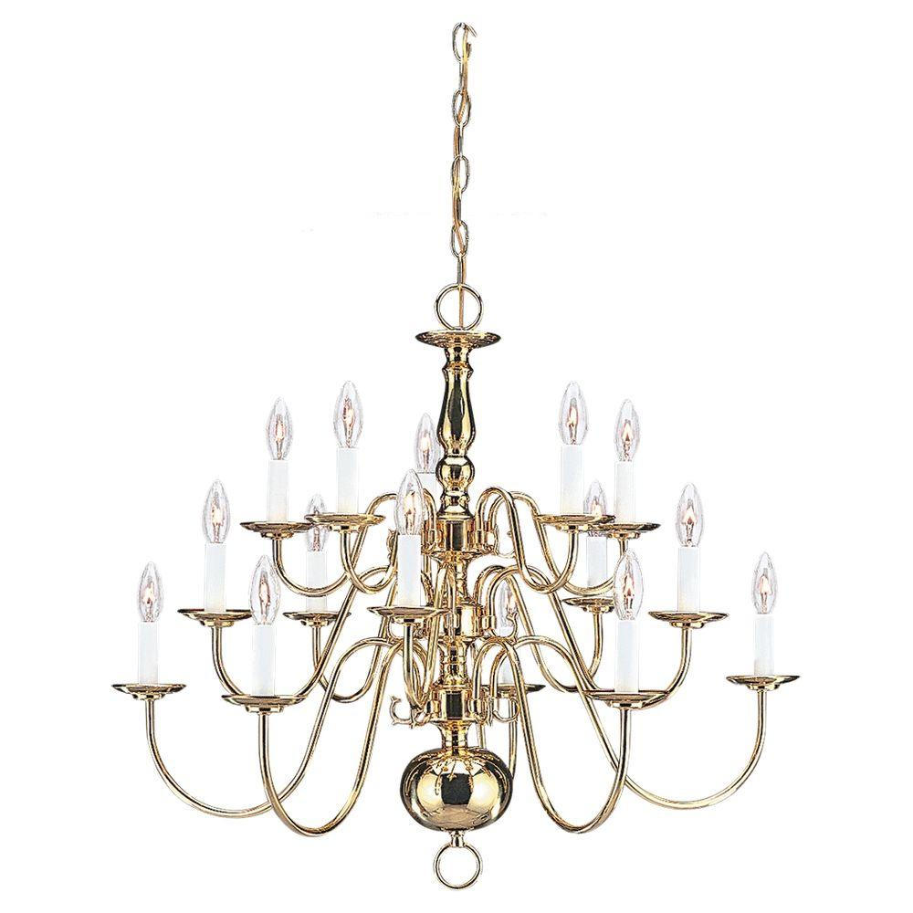 Sea gull lighting traditional 15 light polished brass multi tier sea gull lighting traditional 15 light polished brass multi tier chandelier arubaitofo Image collections