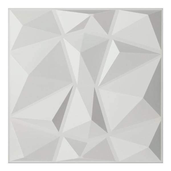 Art3d 19.7 in. x 19.7 in. White Decorative PVC 3D Wall