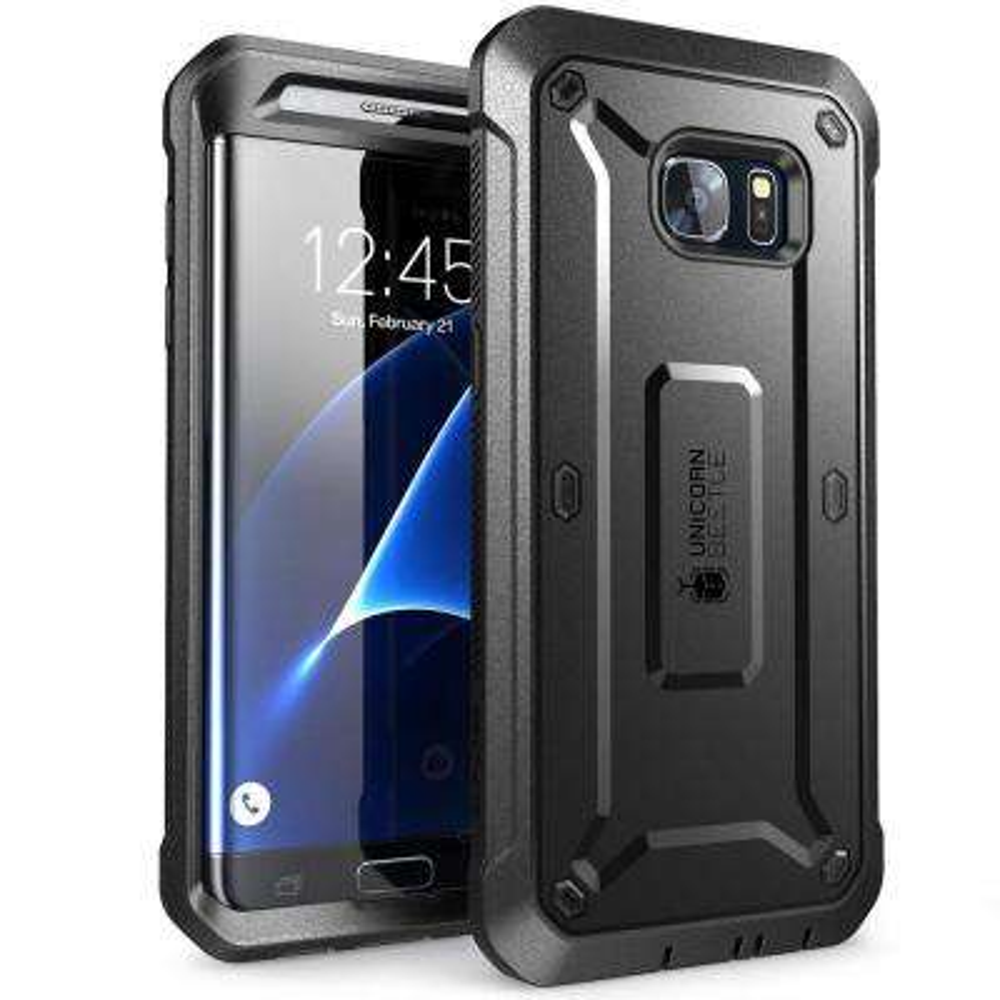 Supcase Galaxy S7 Edge-Unicorn Beetle Pro Case and Holster, Black