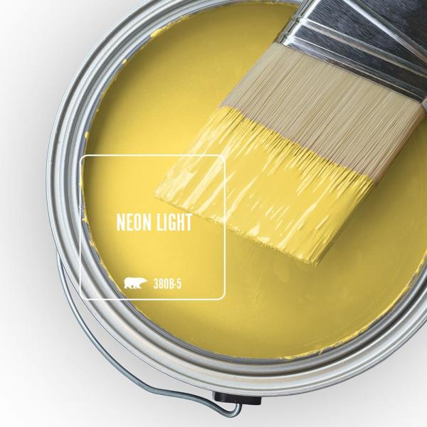 Reviews For Behr Marquee 1 Gal 380b 5 Neon Light Flat Exterior Paint Primer 445301 The Home Depot