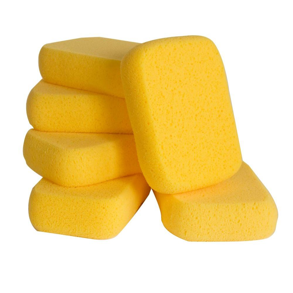 QEP 7-1/2 in. x 5-1/2 in. Extra Large Grouting, Cleaning and Washing Sponge (6-Pack)