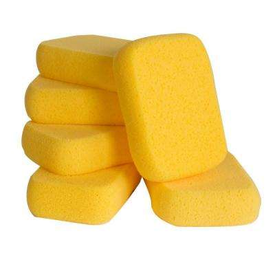 7-1/2 in. x 5-1/2 in. x 1-7/8 in. Extra-Large Grouting, Cleaning and Washing Sponge (6-Pack)