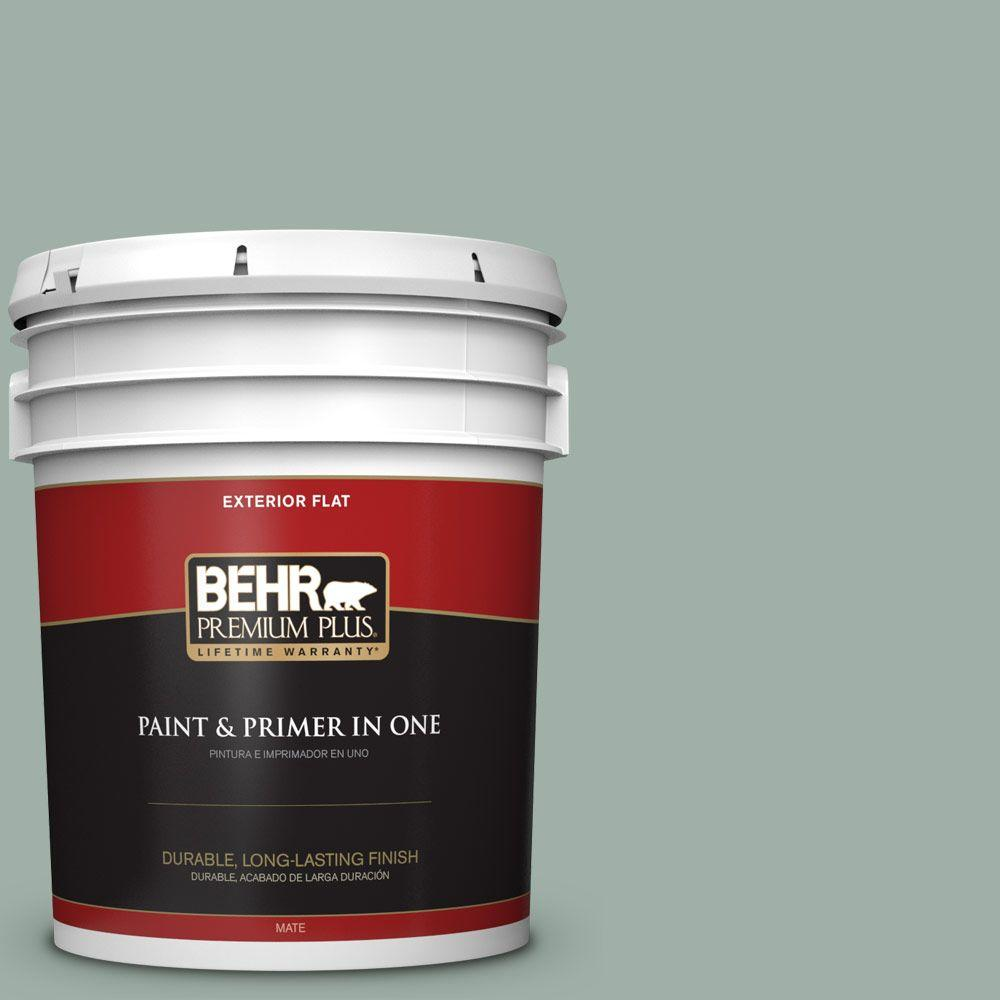 Home Decorators Collection 5-gal. #HDC-CT-22 Aged Jade Flat Exterior Paint