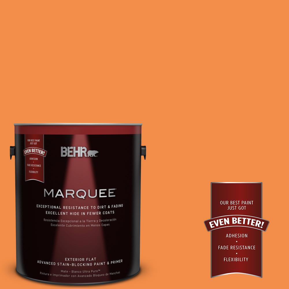 BEHR MARQUEE 1-gal. #250B-6 Poppy Glow Flat Exterior Paint