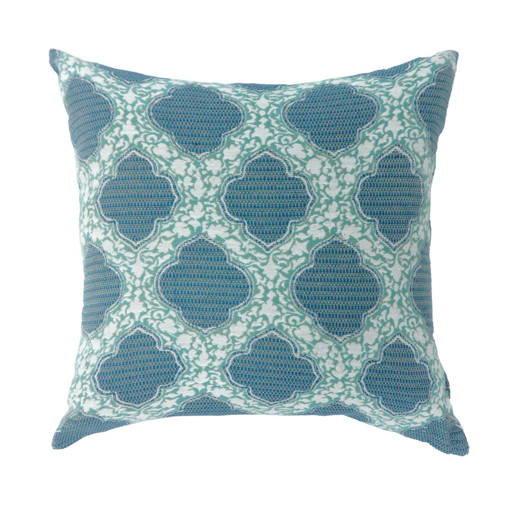 Roxy 18 in. Contemporary Throw Pillow in Blue (Pack of 2)