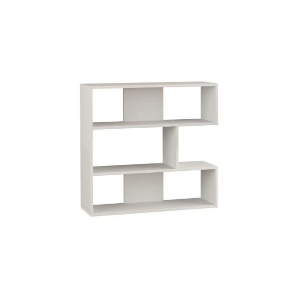 Ada Home Decor Beethoven White Modern Bookcase DCRB2141