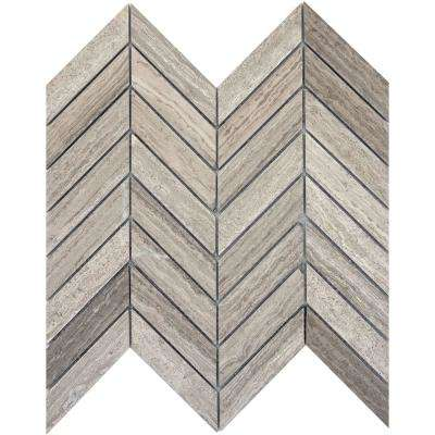Limestone Gray Honed 12.01 in. x 12.01 in. x 10 mm Limestone Mesh-Mounted Mosaic Tile
